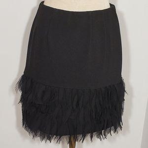"""Ann Taylor black ruffle skirt size 0P"